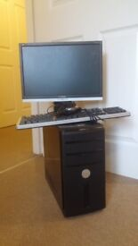 Dell DX10 Gaming PC, 4GB RAM, GTX 275, Windows 7 Full Setup Monitor Keyboard Mouse