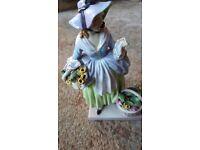 Royal doulton figurine spring flowers damaged