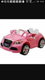 Pink Audi electric car