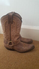Sancho cowboy boots Real Leather UKsize 5 USsize 6 EUsize38