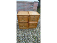 A pair of Filing Cabinets in Light Oak finish £100