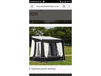 Porch awning will fit caravans 235cms to 255cms awning rail height The awning size is 240cm to190cm