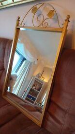 Decorative metal frame mirror for sale