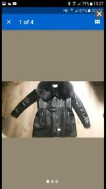 River island faux leather jacket size 16 new