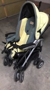 Green yellow black stroller for sale !