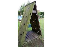 wooden climbing arc