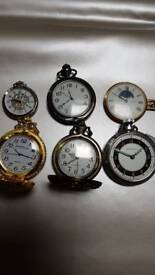 Pocket watches x6 Ingersoll and others