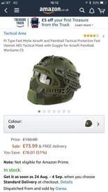 Air soft helmet used once !