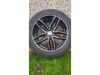 """18"""" black alloys vw or Audi as new with tyres"""