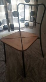 6 Beautiful wooden & steal framed dinning chairs