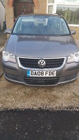 URGENT SALE VW TOURAN 2008 ,GREY ,1,9TDI (7 Seats),£2750 Neg.