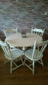 Refurbished Table and 4 chairs