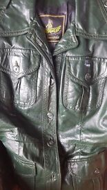 Genuine leather coat