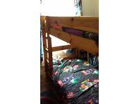 Antique pine bunk bed