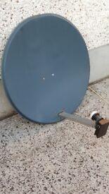 Satellite dish 80cm incl. Inverto quad LNB