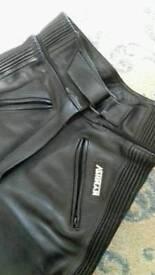 Women's / ladies motorcycle leather trousers Sz10