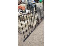 Black garden hooped metal railings