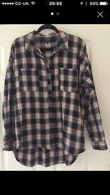 Next Checked Shirt Size 14