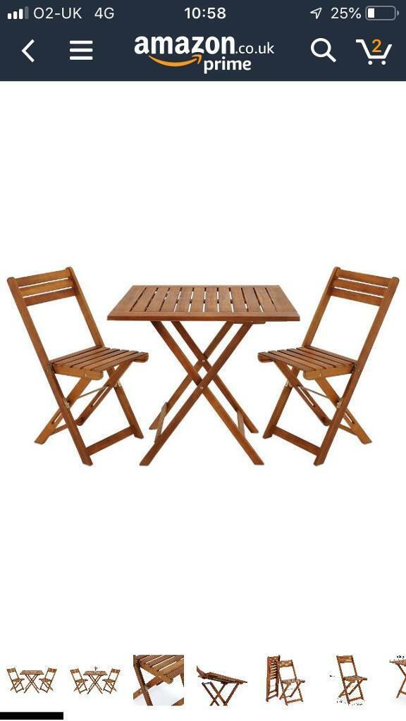 Pleasing Garden Wooden Folding Table And Chairs 2 Seated Set 1 Yr Old In Cambridge Cambridgeshire Gumtree Creativecarmelina Interior Chair Design Creativecarmelinacom