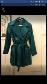TEAL KNEE LENGTH JACKET/COAT (Together by Kaleidoscope) Size 12