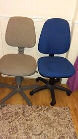 Office/computer chairs. Swivel and seat adjuster