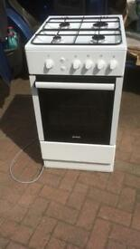 Gas cooker Gorenje GI52108AW 500mm Single Gas Oven 4 Burner Hob as new