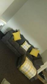 Grey Fabric Couch/Sofa