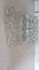 Glass tealight holders x32