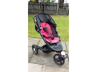 Recaro Babyzen 3 Wheel Buggy with car seat