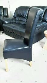 Leather Dining Chairs x 8 (may split)