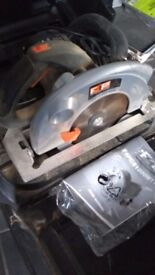 One of several 110v power tools for sale. F4PCS Circular Saw. 1800w. £75. Little use