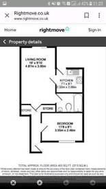 1 bedroom ground flat for rent