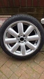 MINI COOPER WHEEL + NEW TYRE