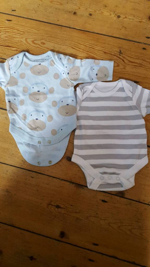 2 newborn boys vests from next