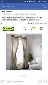 2 xIkea beige/creamy curtains