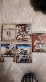 PlayStation 3 games oblivion mag red dead redemption sniper elite 3 ghost recon future soldier