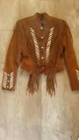 Cripple Creek suede Ladies Western Indian Fringed Jacket