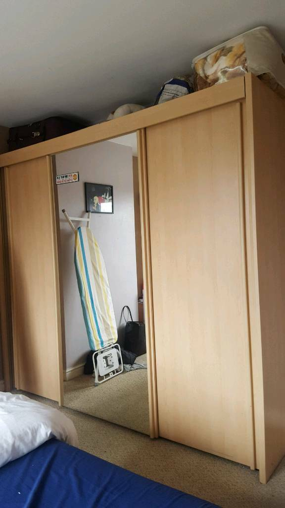 Real wooden wardrobe