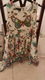 Girls multi-coloured butterfly dress age 6-7