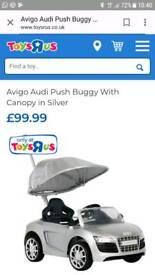 Audi car push buggy