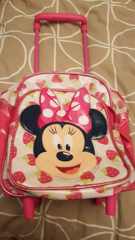 Minnie mouse small pull along case