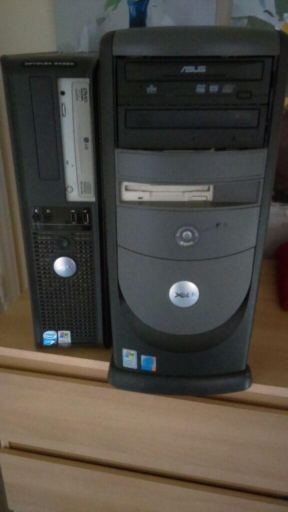 2 x Dell Computer CPUs for Sale