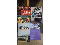 An assortment of Media related text books - ideal for university!