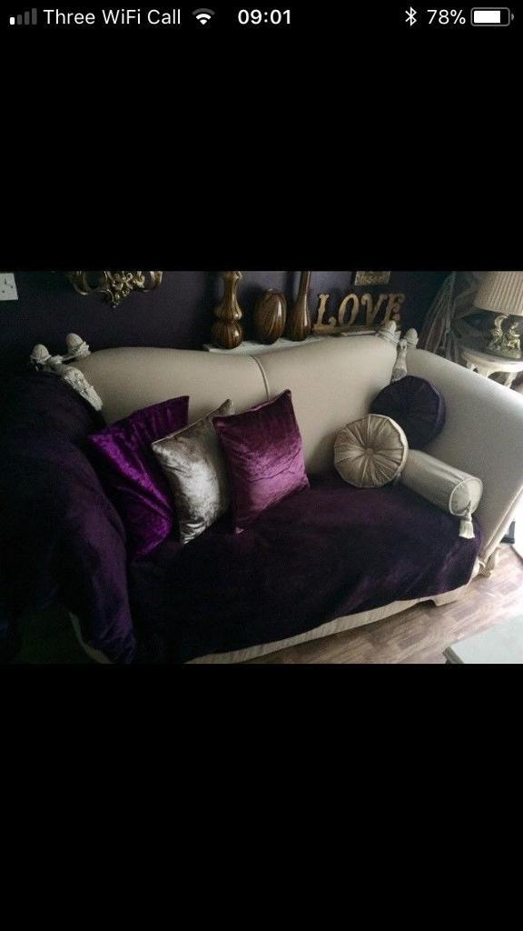 Pair of large two seater sofas