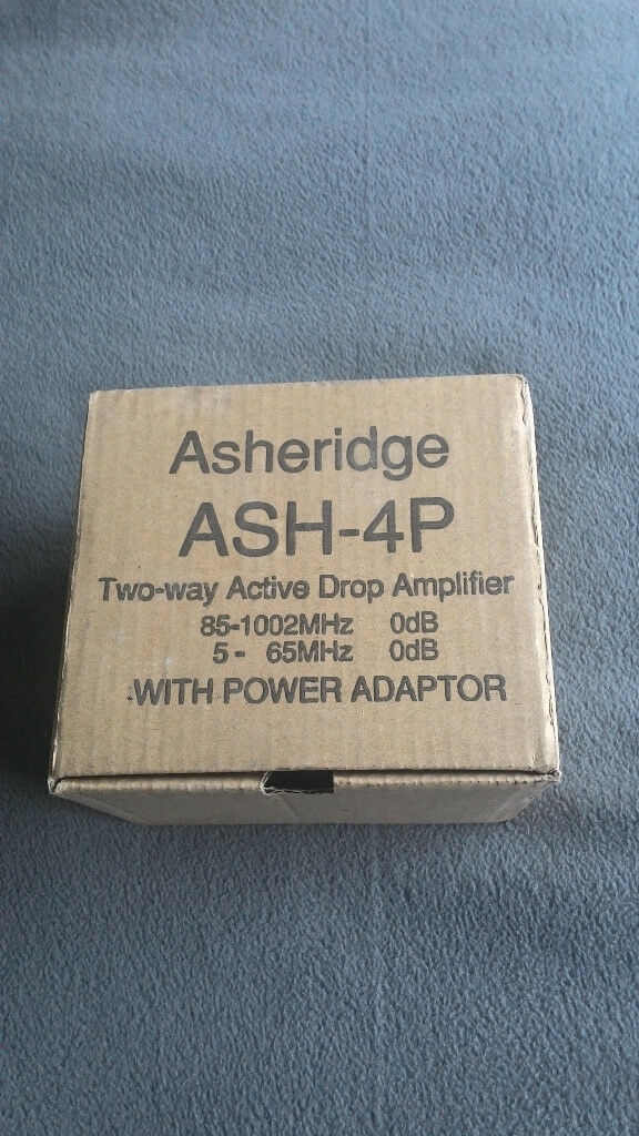 Brand newTeleste Asheridge ASH-4OP ASH-4P 4 Port Signal Booster for Virgin Media CATV, freeview