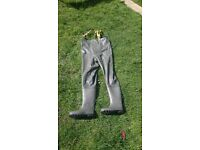 Fishing Chest waders size 9