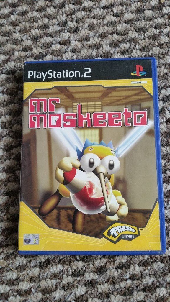 playstation 2 Mr Moskeeto boxed with instructions