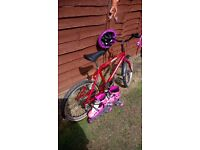 Girls Raleigh bike size 20