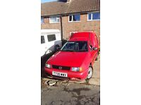 Red Volkwagen caddy 1999 for sale