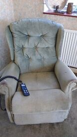 Green celebrity electric recliner chair